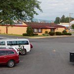 Dennys restaurant right across parking lot