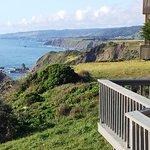 Blufftop view from Irish Beach to the north