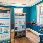 Educational displays inside the counting house