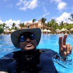 Me at the hotel pool.