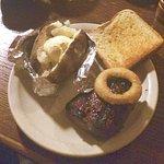 Sirloin Club w fluffy baked potato
