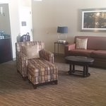 Room 563, the Executive Suite. Living area
