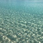 Beautiful crystal clear blue water