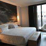 Bedroom in room 608 (one-bedroom suite)