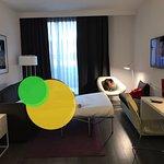 Main room in room 608 (one-bedroom suite)