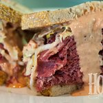 Our slow-cooked corned beef sandwich sells out early every time we have it.