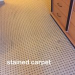 badly stained carpet