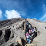 queuing to Bromo Crater