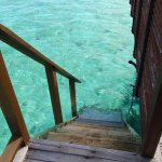 stairs from Deluxe Water Villa