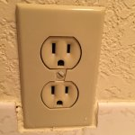Broken Bathroom Outlet