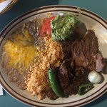 Carne Asada plate - Hot and delicious!!