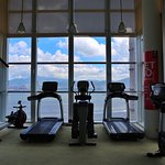 Gym with wonderful view