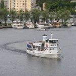 Lähdössä Mikkelin satamasta. Departing from Mikkeli harbour.