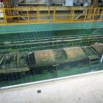 The submarine HUNLEY preserved