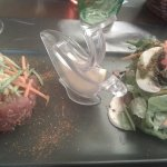 Tartare de la mer au gingembre et citron confit
