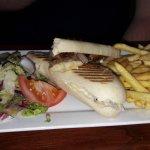 ham and cheese panini very nice...