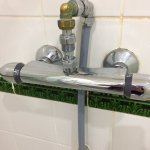 Some awesome plumbing in the shower!