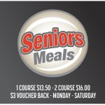Senior Meals Available with cash back offer