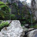 The beautiful waterfall walk