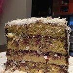 Pana cotta lamington birthday cake - it was amazing!