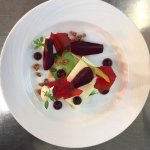 Beetroot and Goat's Curd starter