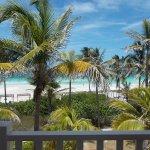 Vista de la playa desde la habitación