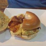 Egg, Cheese, Bacon Bagel Sandwich