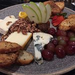 Cheese and fruit plate orm the Whip Restaurant