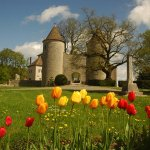 Vue du Château d'Andelot depuis les terrains du Château
