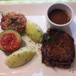 Une viande cuite à cœur !