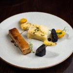 Slow Cooked Pork Belly, Heritage Carrots, Dauphinoise Potato, Port & sage Sauce