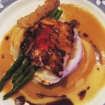 USS Nemo's signature dish: Miso Broiled Sea Bass with Citrus-Ginger Butter Sauce