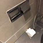 Pool area, uncovered/cooled sushi at breakfast, spa changing room, infamous toilet roll holder.