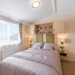 Platinum caravan double bedroom