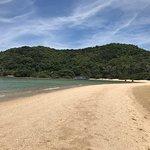 Tres belle plage, nous avons vu de beaux poissons. Des masques et tubas sont à louer.