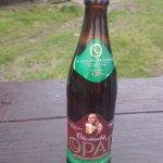 Piwo z lokalnego browaru sprzedawane w schronisku. Niestety letnie z braku lodówki!