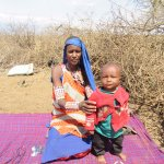 Maasai mother and child
