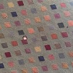 Cigarette burn hole in loveseat cushion