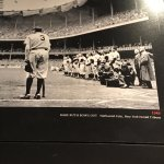 Pulitzer- Babe Ruth farewell day. Trivia: He is leaning on Bob Fellers bat