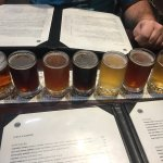 The beer sampler helped us to make our final decision what beer/ale to order with our Triumph Bu