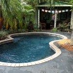Salt water pool and cabana area