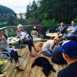 Family time on the deck