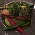 Salmon & pea puree