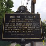 Historic plaque marking Seward House