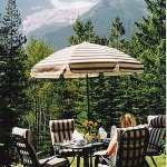Garden with Patio furniture for guest's with Glacier View