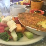 Their enormous quiche with very fresh fruit!