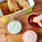 Our juicy, perfectly crunchy tenders with some of our house made dips like sriracha sour cream