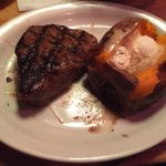 steak and sweet potato