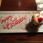 Happy Birthday with chocolate mousse!