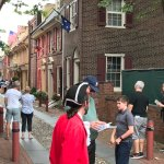 Tour group in Elfret's Alley in Phildelphia